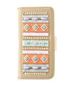 GYPSET BEADS CORAL×MINT NOTE TYPE iPhone6plus